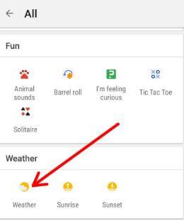 Pixel 2 weather widget