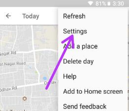 Tap on settings in Location settings in android