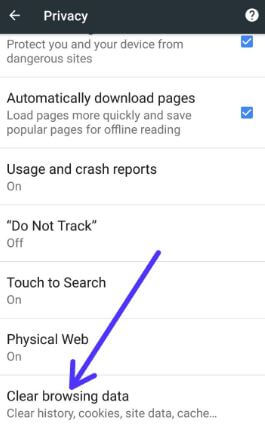 how to delete web search history on google