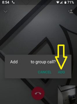 Add contact to group video call on WhatsApp android