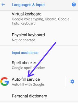 Auto-fill service in android Oreo