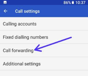 Call forwarding in android 8.0 Oreo