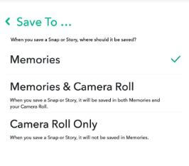 How to automatically save snaps to camera roll