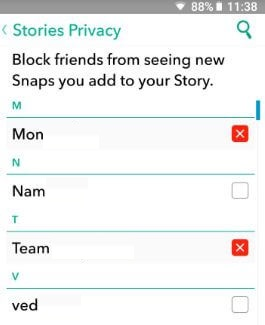 How to block someone from seeing your Snapchat story android phone