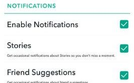 How to change Snapchat notification settings in android phone