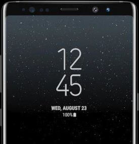 How to change lock screen clock on galaxy Note 8