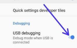 How to enable USB debugging on android 9.0