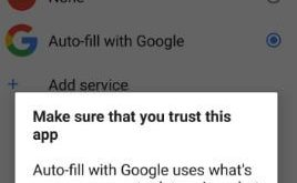 How to fix Autofill service option missing in android Oreo