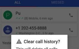 How to remove call log from android Oreo