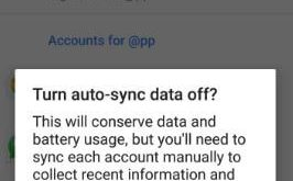 How to turn off auto sync android 8.0 Oreo