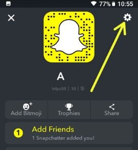 Snapchat settings in android devices
