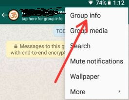 Group info in WhatsApp android