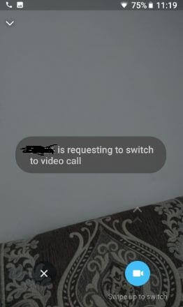Switch voice call to video call on WhatsApp android phone