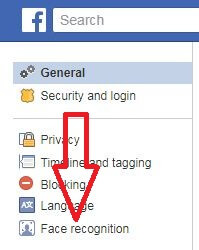 Turn off face recognition on facebook app in PC