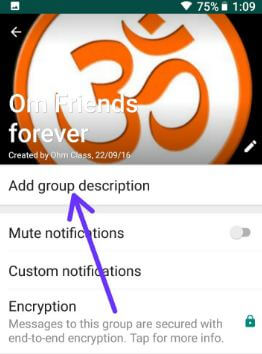WhatsApp group name in android
