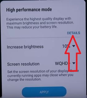 High performance mode on Galaxy S9 plus