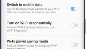 How to enable switch to mobile data on Galaxy S9 and S9 Plus