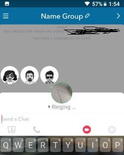 How to group video chat on Snapchat android device