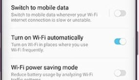 How to turn on wifi automatically Galaxy S9 and Galaxy S9 plus