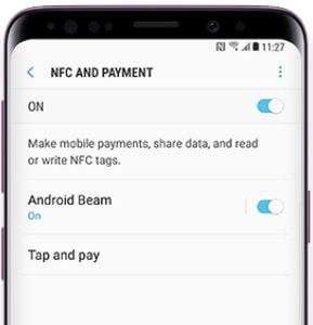 How to use NFC to transfer files Galaxy S9 and Galaxy S9 plus