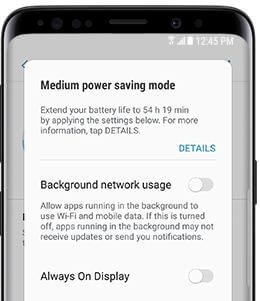 How to use power saving mode on galaxy S9 and galaxy S9 plus