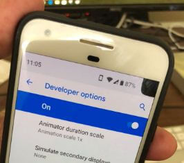 Corner Display cutout in android P 9.0