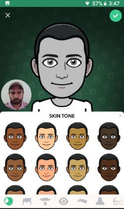 Create your own Bitmoji Snapchat android