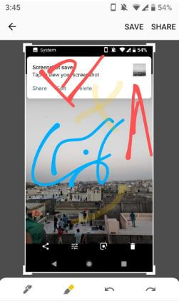 Edit screenshot in android P 9.0