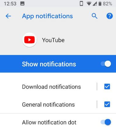 How to disable YouTube app notifications in android Phone