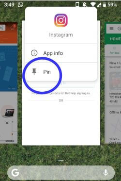 How to enable screen pinning in android P 9.0