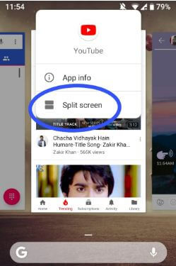 How to use Split screen in android P 9.0