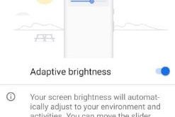 How to use adaptive brightness in android P 9.0