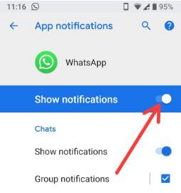 Manage notification in android P 9.0