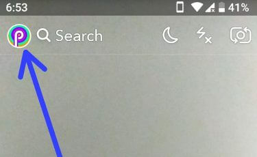 Snapchat profile icon in android smartphone