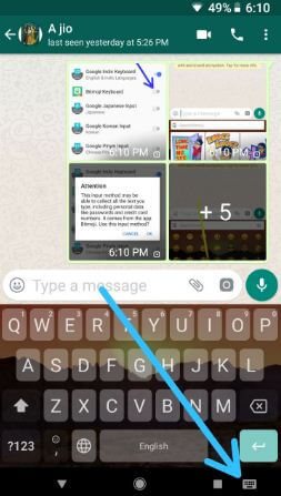 Use Bitmoji on WhatsApp android