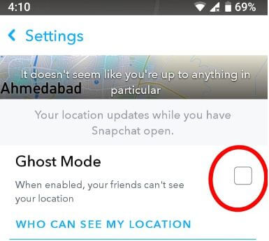 Enable Ghost mode android