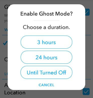 How to enable Ghost mode on Snapchat android device