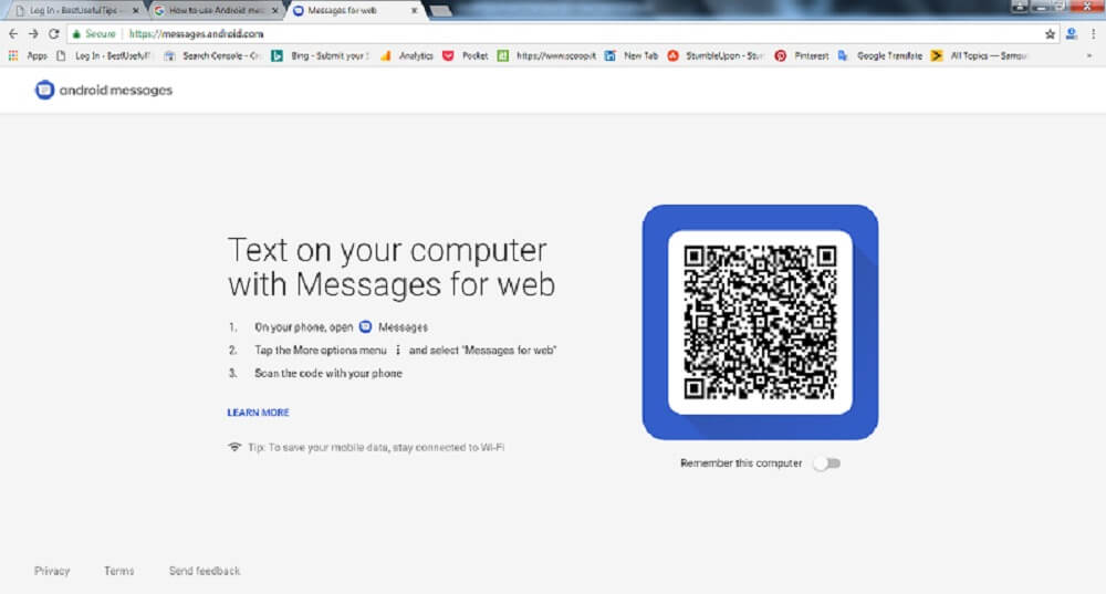Send text messages from your computer to android