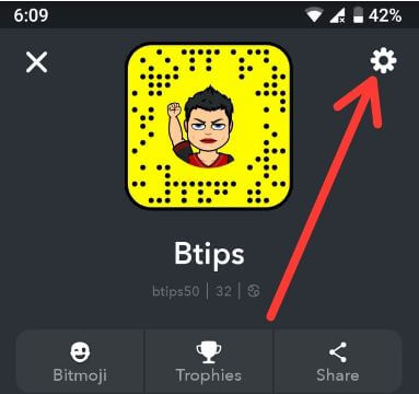 Snapchat app settings for android devices
