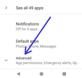 Android P advanced settings