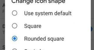 How to change icon shape in android P 9.0