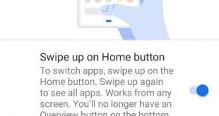 How to enable Gesture navigation in Pixel 3 XL