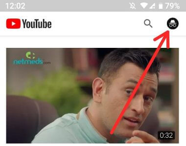 Use Incognito mode in YouTube android phone