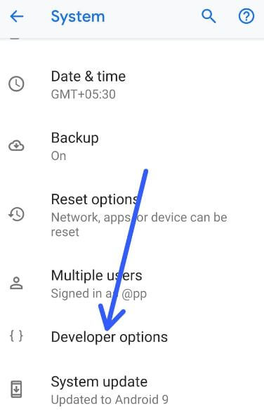 Android P 9.0 developer options settings