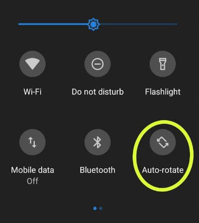 How to auto-rotate screen in android Pie 9.0