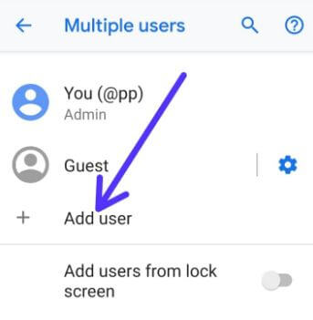How to enable multi user mode in android 9 Pie