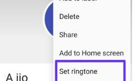 How to set custom ringtone on android 9 Pie