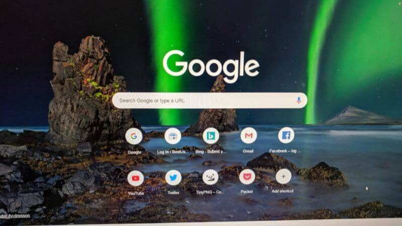 Change Google chrome background image
