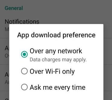 how to change download settings in android