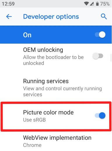How to change color mode on Google Pixel 3 XL